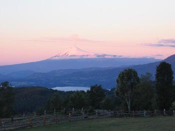Volcan Villarrica from Panguipulli Picture