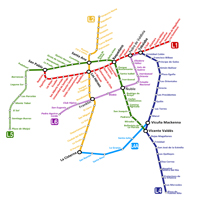 Santiago Subway Map